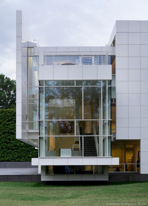 Modern Home Designed by Architect Richard Meier The Rachofsky House