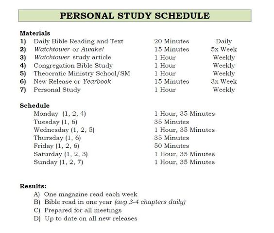 Weekly Study Schedule The Truth Will Set You Free Pinterest - weekly study schedule