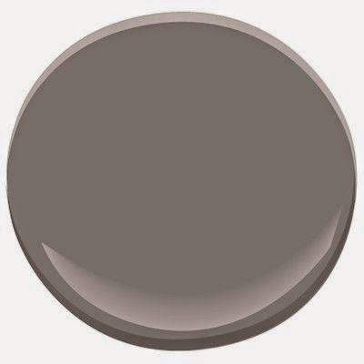 stone by benjamin moore. it looks dark brown here but it's totally a dark sweatshirt gray, weird.