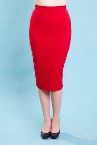 Joni Skirt Dark Red Crepe