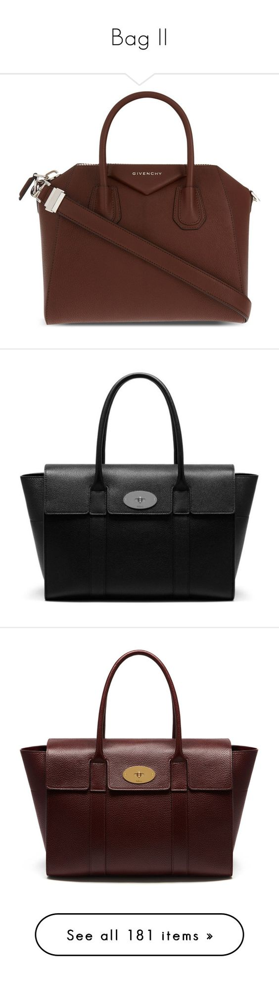 """""""Bag II"""" by yle06 ❤ liked on Polyvore featuring bags, handbags, tote bags, brown, zippered tote bag, brown leather tote bag, genuine leather tote, leather zip tote, leather zipper tote and structured bag"""