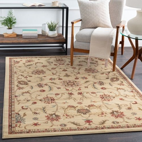 12 X 15 Persian Floral Patterned Beige And Brown Rectangular Area Throw Rug 33420522 Area Rugs Beige Area Rugs Rugs