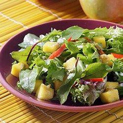Mango Salad with Ginger-Raisin Vinaigrette - EatingWell.com