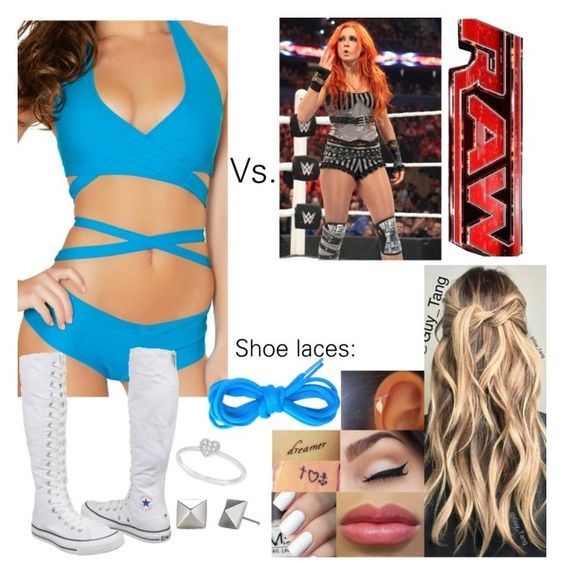 """""""Raw: Riley Vs. Becky Lynch"""" by samantha-vance ❤ liked on Polyvore featuring Converse, Allurez and Monday"""