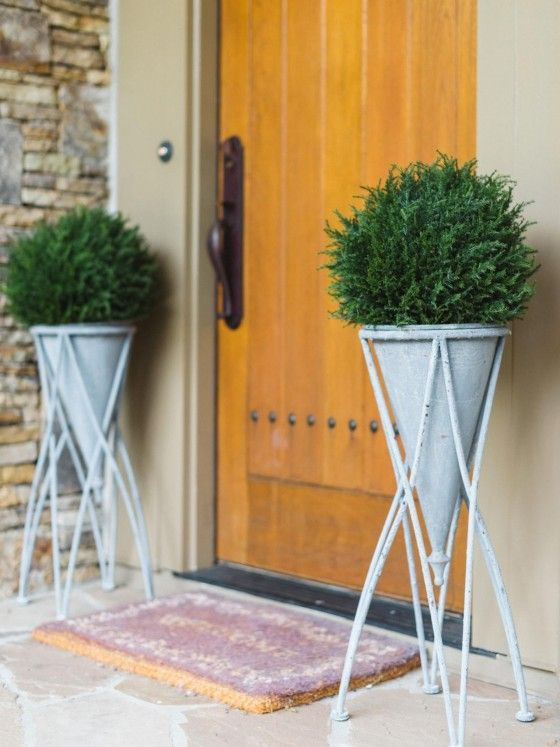 These plants and pots could be cool for our front porch.