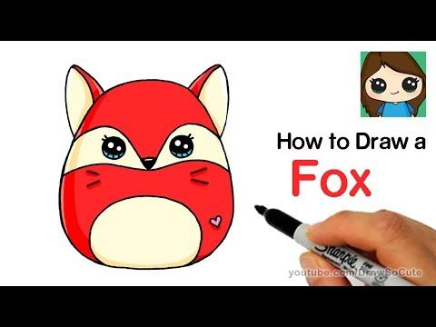 3 How To Draw A Cute Fox Easy Squishy Squooshems Youtube