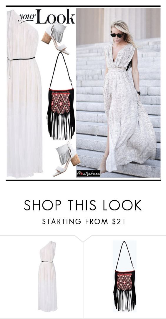 """""""white summer dress"""" by paculi ❤ liked on Polyvore featuring Boohoo, summer2015 and nastydress"""