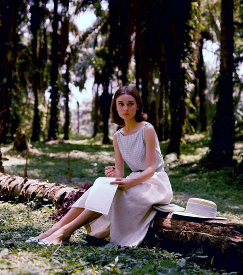 Audrey Hepburn photographed by Leo Fuchs