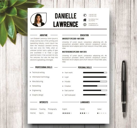 Creative Simple Resume Template  Simple Resume Template Simple