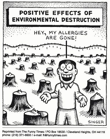 Image result for very funny environmental cartoon
