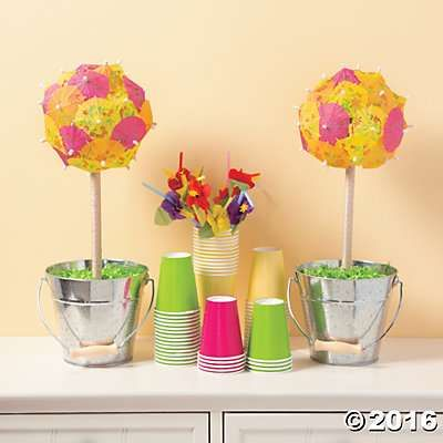 Parasol topiary decorations idea