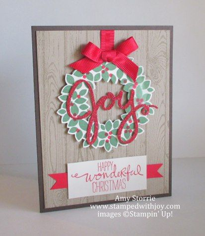 Wondrous Wreath Joy, Amy Storrie, www.stampedwithjoy.com