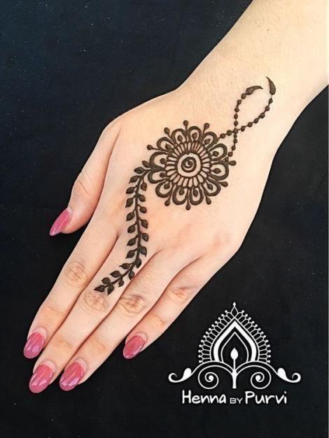 Lukisan Henna Gambar Henna Tangan Simple Dan Bagus