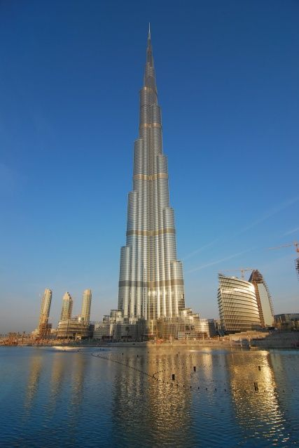 Burj Khalifa in Dubai - Tallest Building of the world. Nice view from the top visitor floor on many other other breathtaking Buildings.
