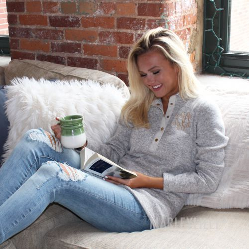 Cozy up with a Monogrammed Heathered Pullover Tunic! https ...