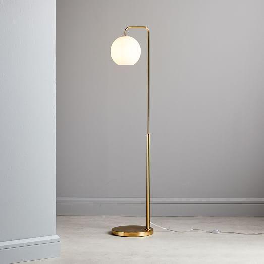 Sculptural Glass Globe Floor Lamp Clear Globe Floor Lamp Glass Floor Lamp Modern Floor Lamps