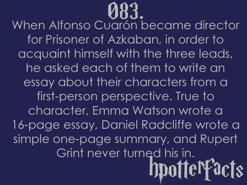 emma watson 16 page essay