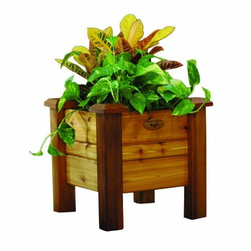 Gronomics PB 18-18S Planter Box, 18-Inch by 18-Inch by 19-Inch, Finished by Gronomics. $169.00. Food contact safe finish. Handcrafted in the u.s.a.. Slides together in minutes. Constructed from 100-percent Western Red Cedar. Tool-free assembly. The ultimate space saver, planter boxes are the answer for an instant and manageable garden that can be placed anywhere. They fit perfectly in an entranceway, on the patio, on a deck, or anywhere you'd like to grow vegetables, herbs...