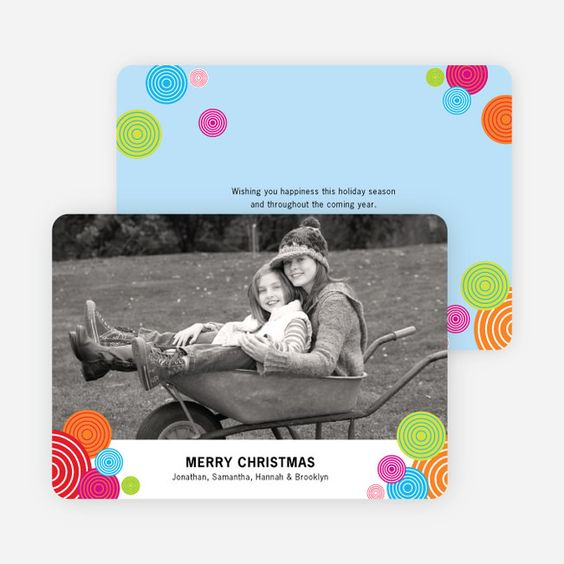Festive Circles Holiday Photo Cards from Paper Culture