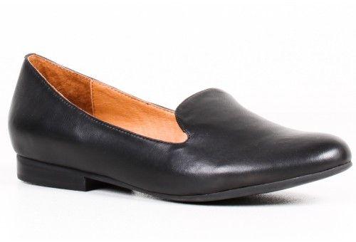 jeffrey campbell black elegant loafer  // 112