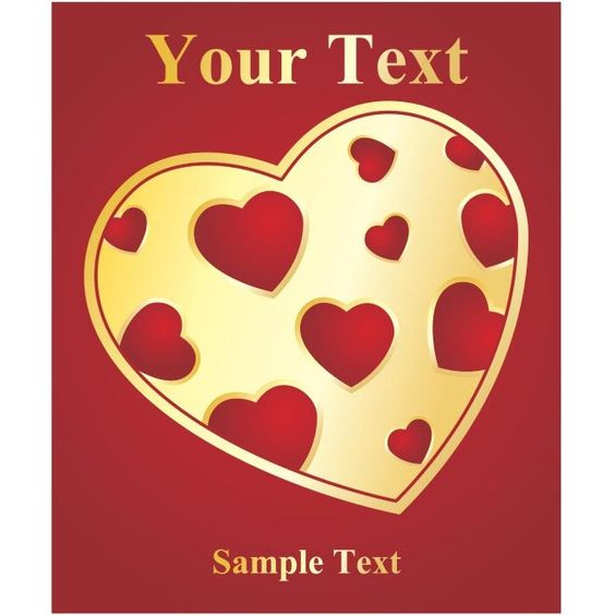 Free Vector Valentine Heart Sample Text Card HttpWwwCgvector