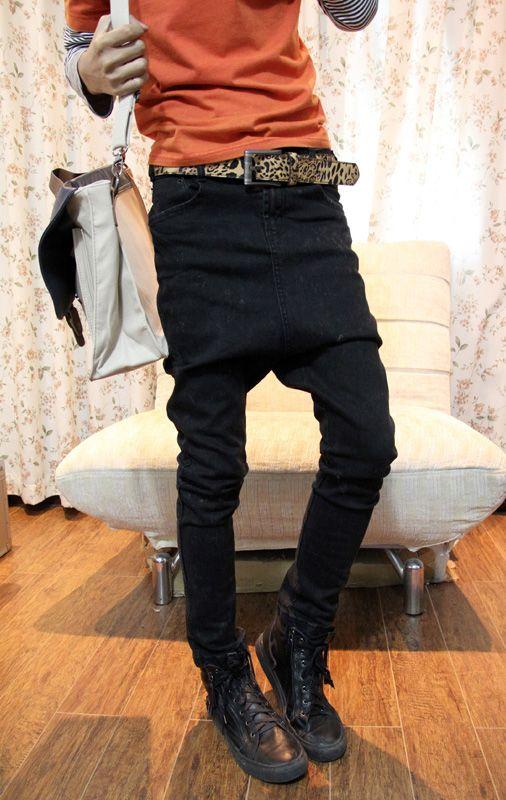 $66. // item number: T13980022326. // mens denim jeans harem pants. Size: 28,29,30,31,32,33.