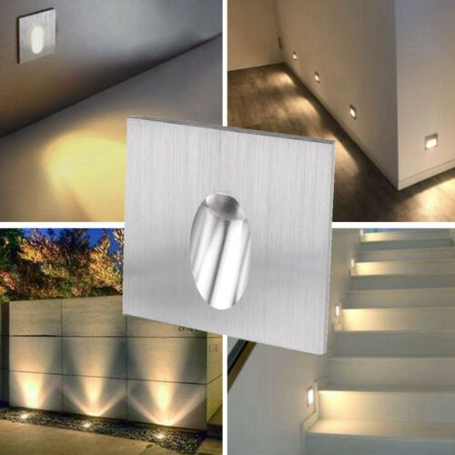6x 1w Led Recessed Step Stair Wall Light Indoor Walkway Sconces Corner Foot Lamp Ebay Stair Wall Lights Wall Lights Stair Walls
