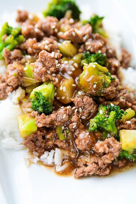 Easy Ground Beef And Broccoli Gluten Free Dairy Free Recipe Ground Beef And Broccoli Ground Beef Recipes Easy Ground Beef And Potatoes