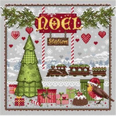 Noël Station - Fiche point de croix - Madame La Fée