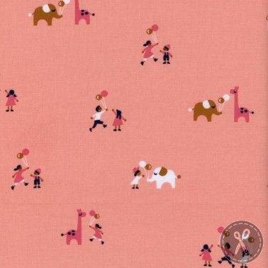 Penny Arcade Balloons Quilting Fabric - Pink