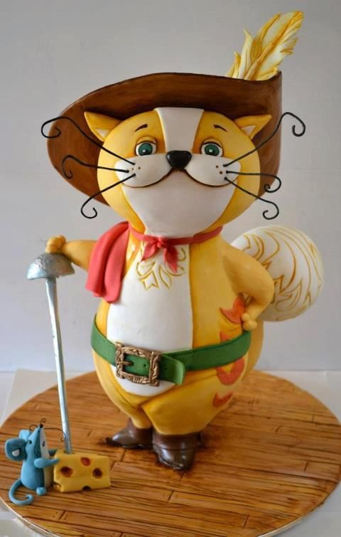 gato con botas porcelana fria polymer clay: