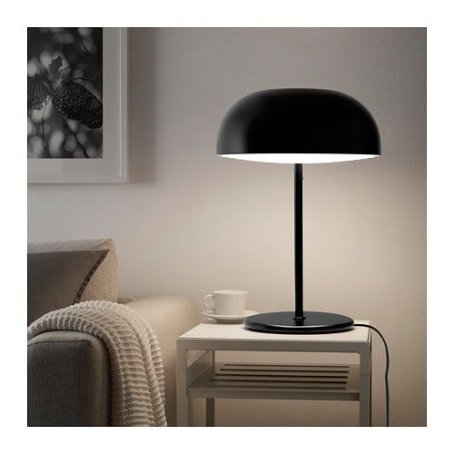IKEA NYMÅNE Table lamp anthracite | Table lamp, Ikea