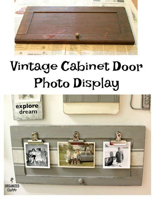 Upcycled Garage Sale Cabinet Door Photo Display Cabinet Doors Cabinets For Sale Vintage Cabinets