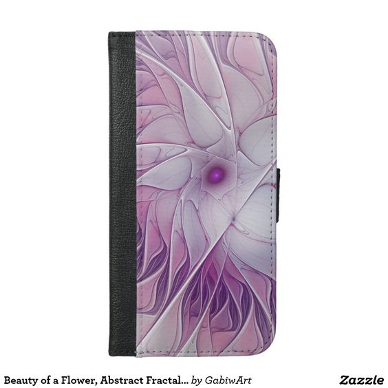 Beauty of a Flower, Abstract Fractal Art iPhone 6/6s Plus Wallet Case