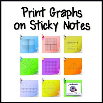 Print Graphs on Sticky Notes - Post It Notes Templates - math grid paper template