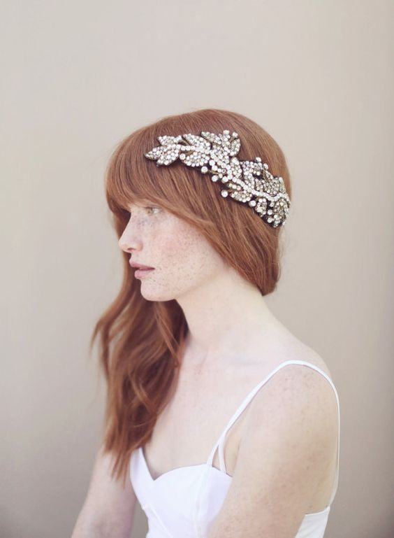 Twigs and honey bridal hair piece