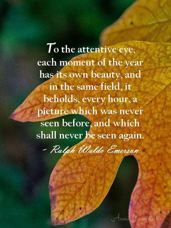 Emerson nature essay quotes