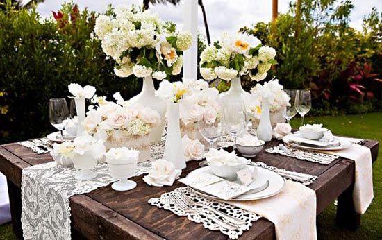 19 tisch deko blumen spitze holz hochzeit natur laendlich braun 550 346 dekoration. Black Bedroom Furniture Sets. Home Design Ideas