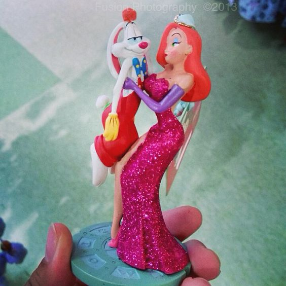 Found this #rogerrabbit and #jessicarabbit #ornament at the #disney #outletstore