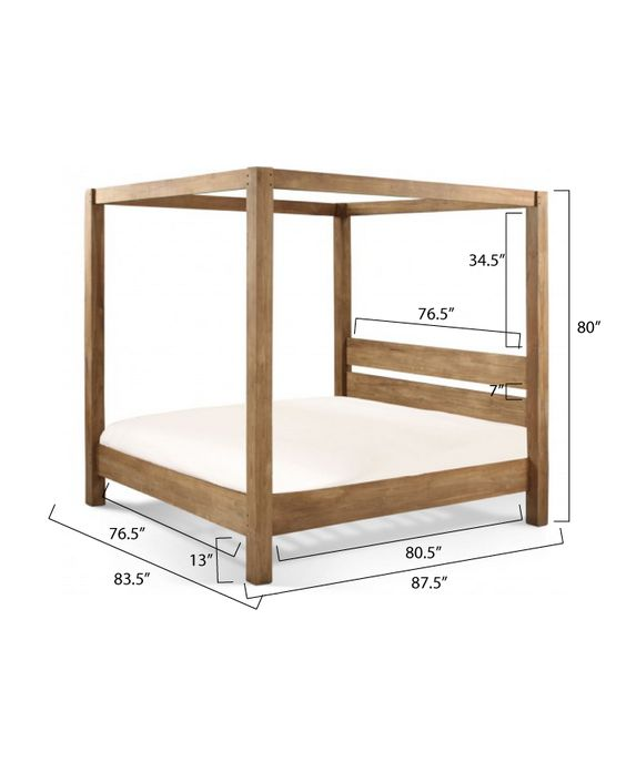 Ana White | Build a Minimalist Rustic King Canopy Bed | Free and Easy DIY Project and Furniture Plans