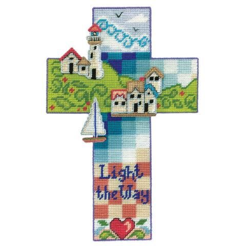 Design Works™ Nautical Cross Wall Hanging Plastic Canvas Kit $17.99