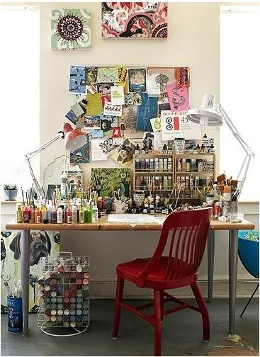 home art studios | Home art studio ideas #artiststudio