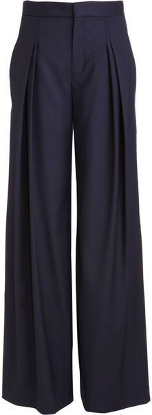 Wide leg pants.: