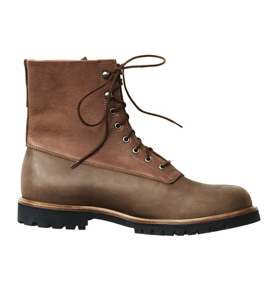 Menswear boots. H&M. Featured in Trend guide video: http://www.youtube.com/watch?v=hu-4-qNe2sI #fashion #shoes