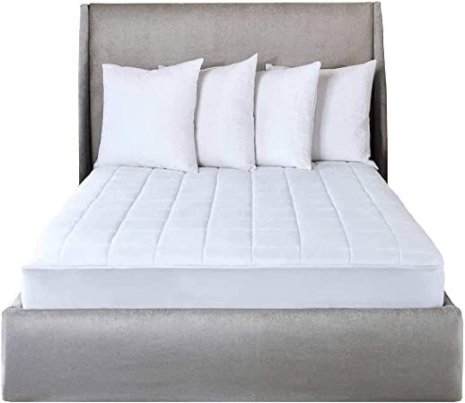 Sunbeam Electric Heated King Mattress Pad Two Controllers 20 Heat Settings And 100 Quilted Cotton Topper Heated Mattress Pad Mattress Pad Queen Mattress Pad