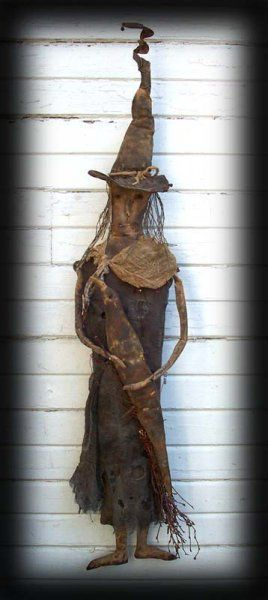 Deep in the Woods - Old Witch and Crow Doll $9.50