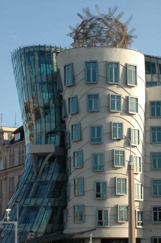Frank Gehry's Dancing Building in Prague