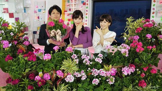 花に囲まれる宮司愛海
