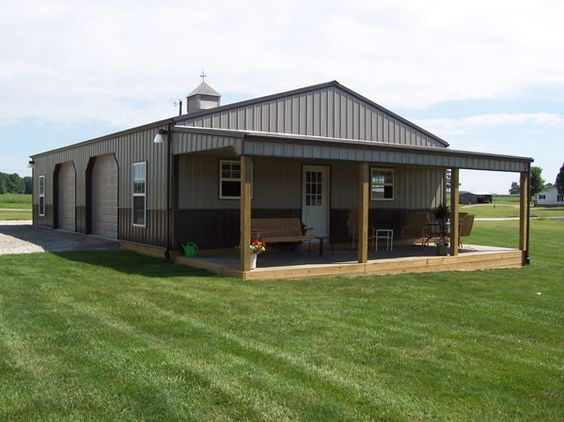 1000 ideas about pole barns on pinterest barn homes for Pictures of metal buildings converted into homes