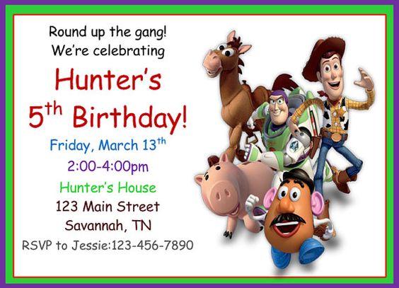 Toy Story Birthday Invitation by FarmSchoolPrints on Etsy